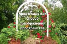 Арка в саду как способ преображения пространства