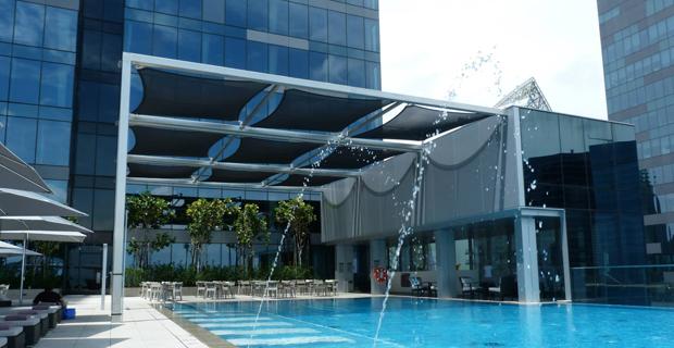 Архитектурное решение, из материала Soltis FT P35, для отеля Westin Hotel (Сингапур)