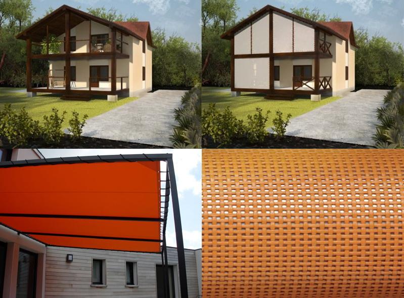 Уличные шторы из Soltis, Batyline и PolyScreen