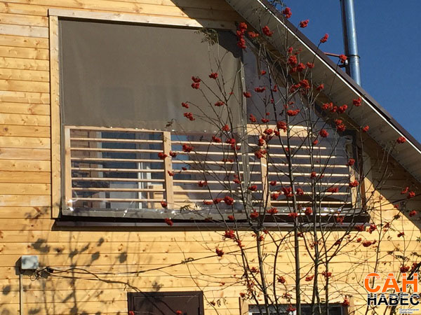 Уличные шторы: материал ПВХ и Батилин