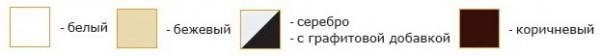 Маркизы ДАКАР-  цвета конструкций