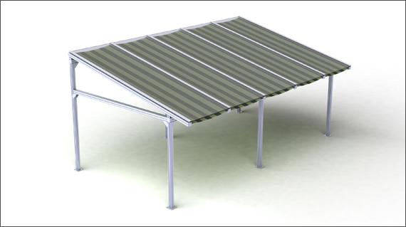 крыша поликарбонат 1,6 см + защита от солнца