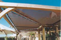 Фасадные шторы, навесы из материала СанВолл